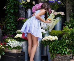 flowers, dress, and summer image