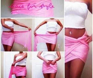 pink, skirt, and diy image