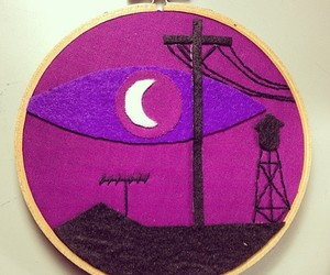 crafts, embroidery hoops, and welcome to night vale image