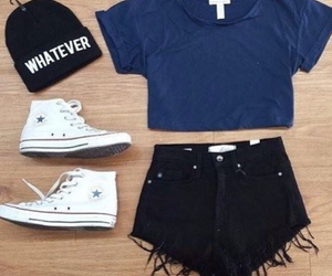 beanie, converse, and cool image