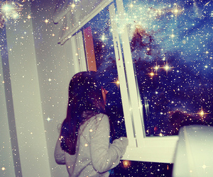 girl, stars, and photography image