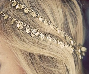 hair, blonde, and accessories image