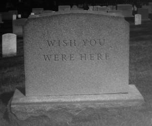 black and white, death, and grave image