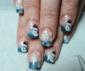 nails, snowflake, and snowman image