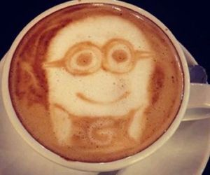 minions and coffee image