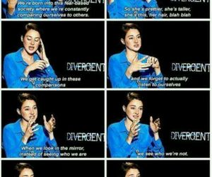 divergent, Shailene Woodley, and quote image