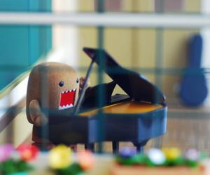 domo, piano, and domo kun image