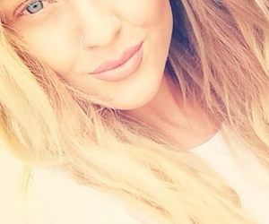 perrie edwards, blonde, and blue eyes image