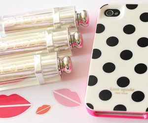 girly, iphone, and lipstick image