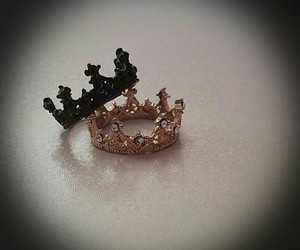 black gold, crown, and fashion image