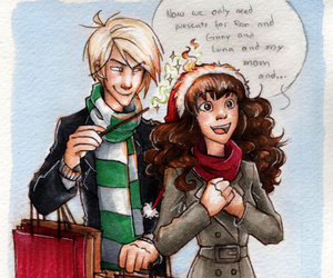 dramione, hermione granger, and draco malfoy image