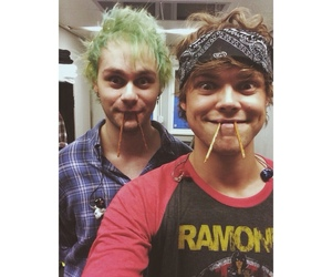 michael clifford, ashton irwin, and 5 seconds of summer image