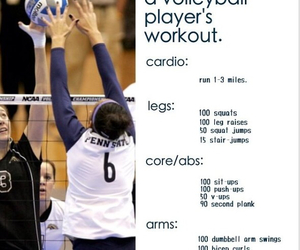 workout, motivation, and volleyball image
