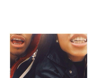 gold, grill, and wolftyla image