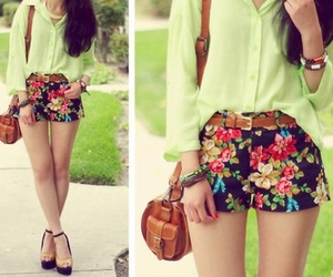 outfit, shorts, and green image