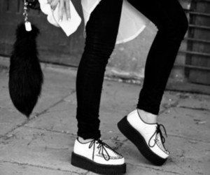 shoes, fashion, and black and white image