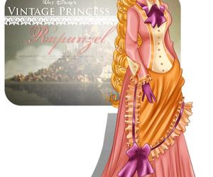 rapunzel, tangled, and vintage image