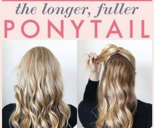 hair, tutorial, and long image