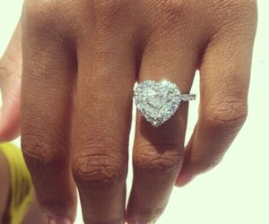 ring, diamonds, and heart image