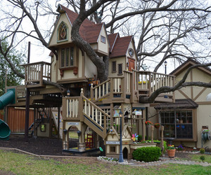 tree house, fun, and house image