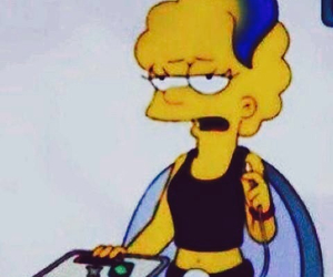 grunge, simpsons, and lisa image