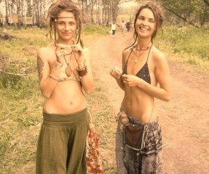 beautiful, hippies, and outdoors image