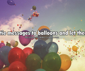ballons, summer, and fly image