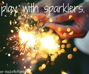 sparklers and summer image