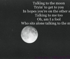 moon and talking to the moon image