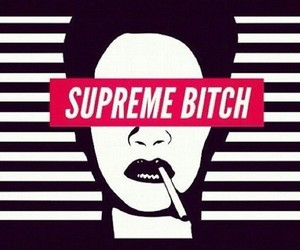 rihanna, supreme, and bitch image