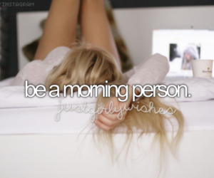 morning, bed, and girl image