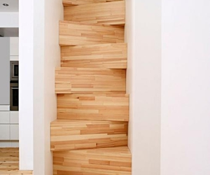 architecture, stair, and Timber image
