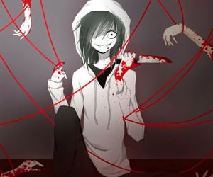 blood, Jeff, and jeff the killer image