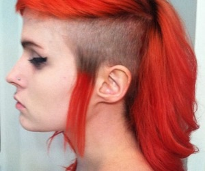 alt girl, dyed hair, and Mohawk image