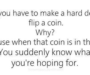 quote, decisions, and coin image