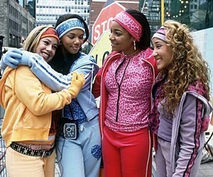 track suit, cheetah girls, and 2000s image