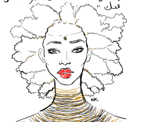 African, red lipstick, and arabian image