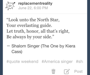 tumblr, north star, and kiera cass image