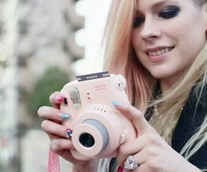 Avril Lavigne and camera image