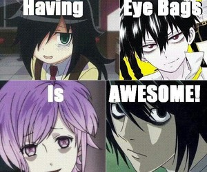 anime, death note, and eye bags image
