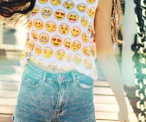 emoji, outfit, and summer image