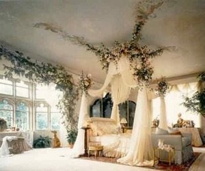 bedroom, flowers, and home image