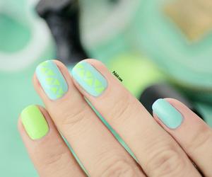 nail art, neon nails, and nails image