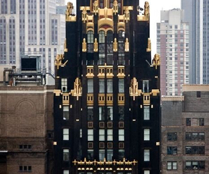 building, gold, and black image
