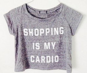 shopping, cardio, and fashion image