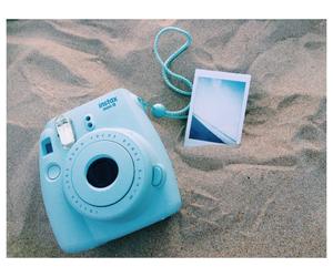 beach, blue, and camera image