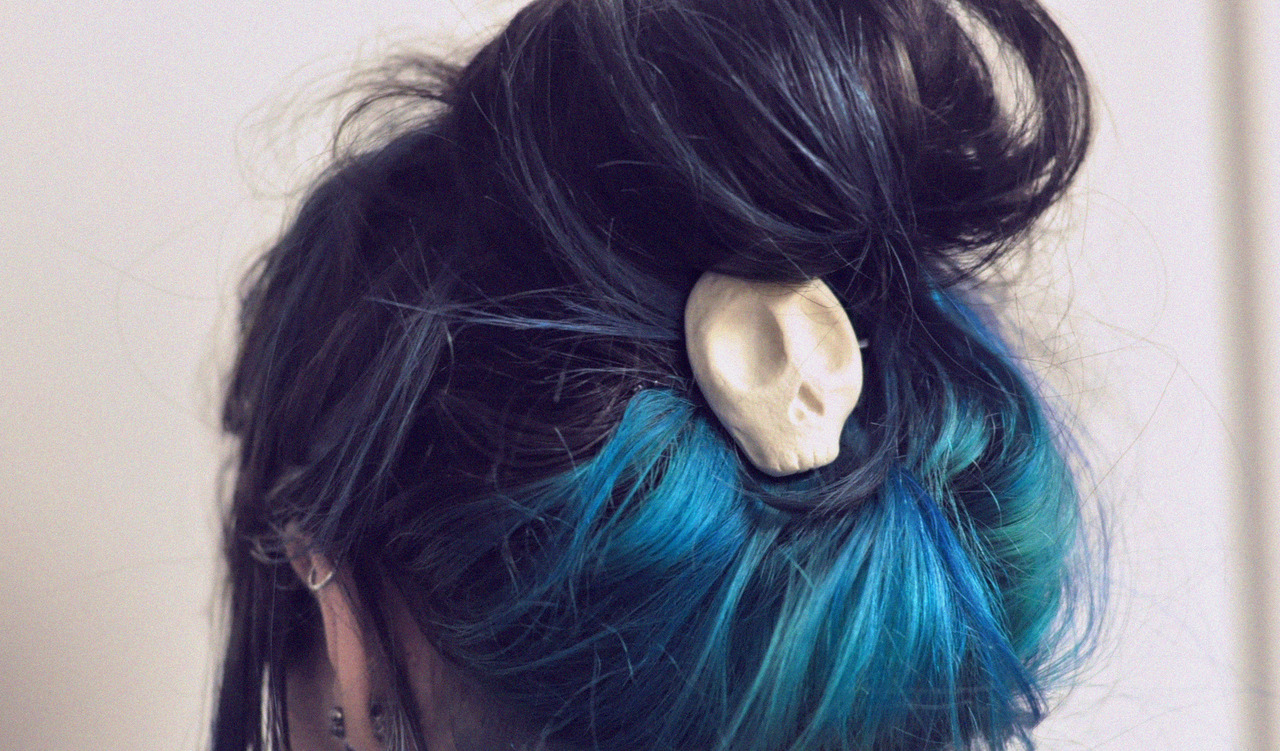 Black to blue ombre hair tumblr
