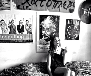 beatles, girl, and trainspotting image