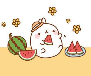 kawaii, watermelon, and cute image