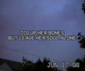 grunge, bones, and sad image